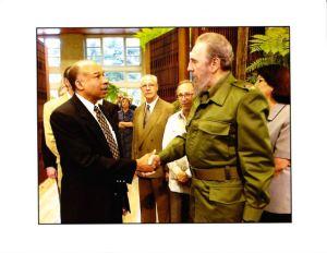 Ronald Howard with Fidel Castro