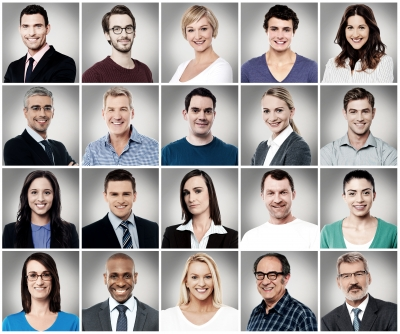 """Composition of Attractively Smiling People"" (Freedigitalphotos.net)."